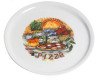 Pizzabord olijf basilicum tomaat