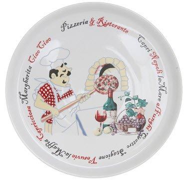 pizzabord keramiek, met Italiaanse opdruk