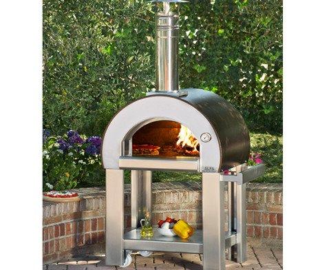 pizza houtoven 5 minuti Alfa Pizza buiten tuin