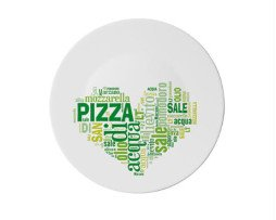 pizzabord teksthartje groen