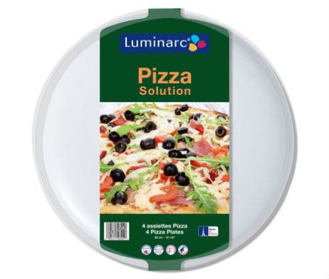Set 4 witte pizzaborden