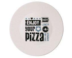 pizzabord enjoy your pizza (blauw)