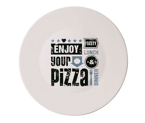 pizzabord enjoy your pizza (blauw)