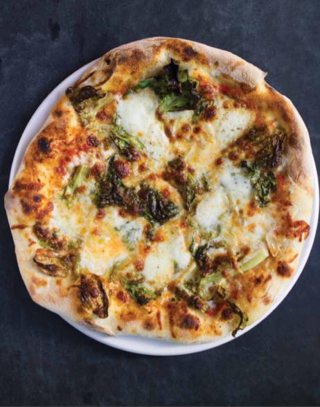 Pizza met andijvie, uit het boek De Pizza Elementen
