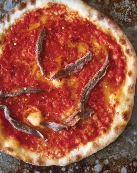 Pizza met ansjovis uit het boek De Pizza Elementen