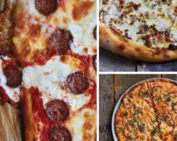 Verschillende pizza's uit het boek De Pizza Elementen