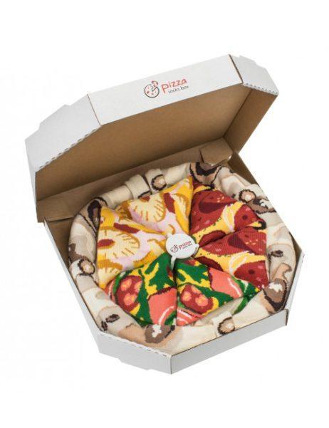 pizza sokken - doos - mix Italiana, Hawai en Pepperoni