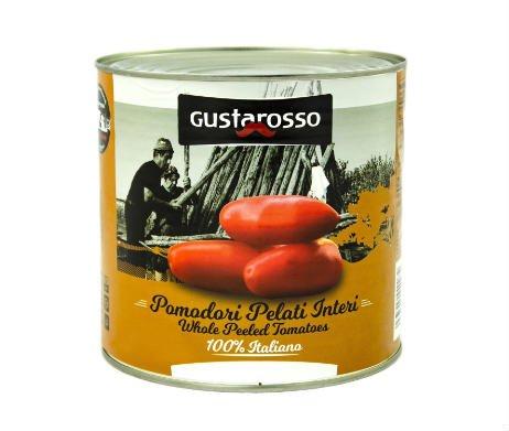 Gepelde tomaten in blik (2500gr) - Gustarosso