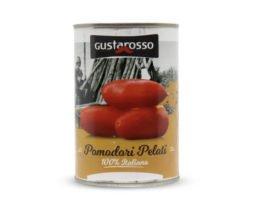 Hele gepelde tomaten in blik (100% Italiaans) - Gustarosso
