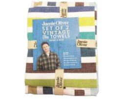 jamie oliver theedoek vintage (set 2 stuks)