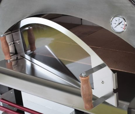 Quattro pizzaoven houtoven glazen deur