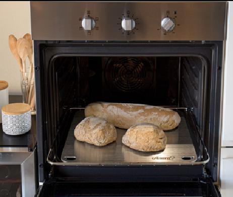 pizza steel rvs: brood bakken