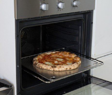 pizza steel rvs: pizza bakken