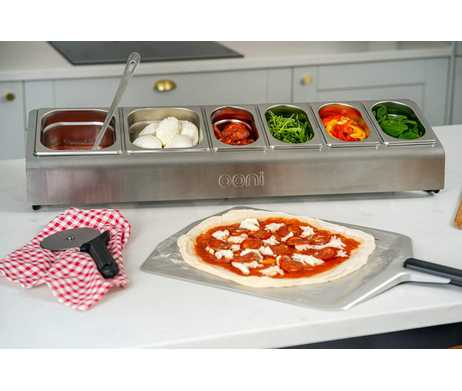 Ooni topping station pizza